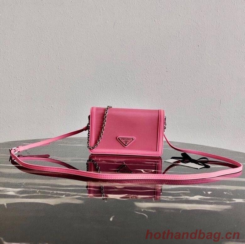 Prada Saffiano leather shoulder bag 2BP019 rose