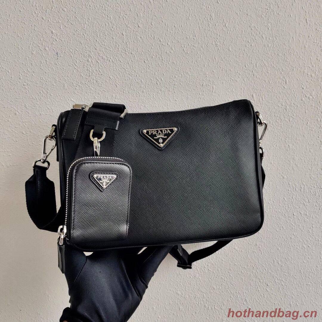 Prada Saffiano leather shoulder bag 2VH113 black
