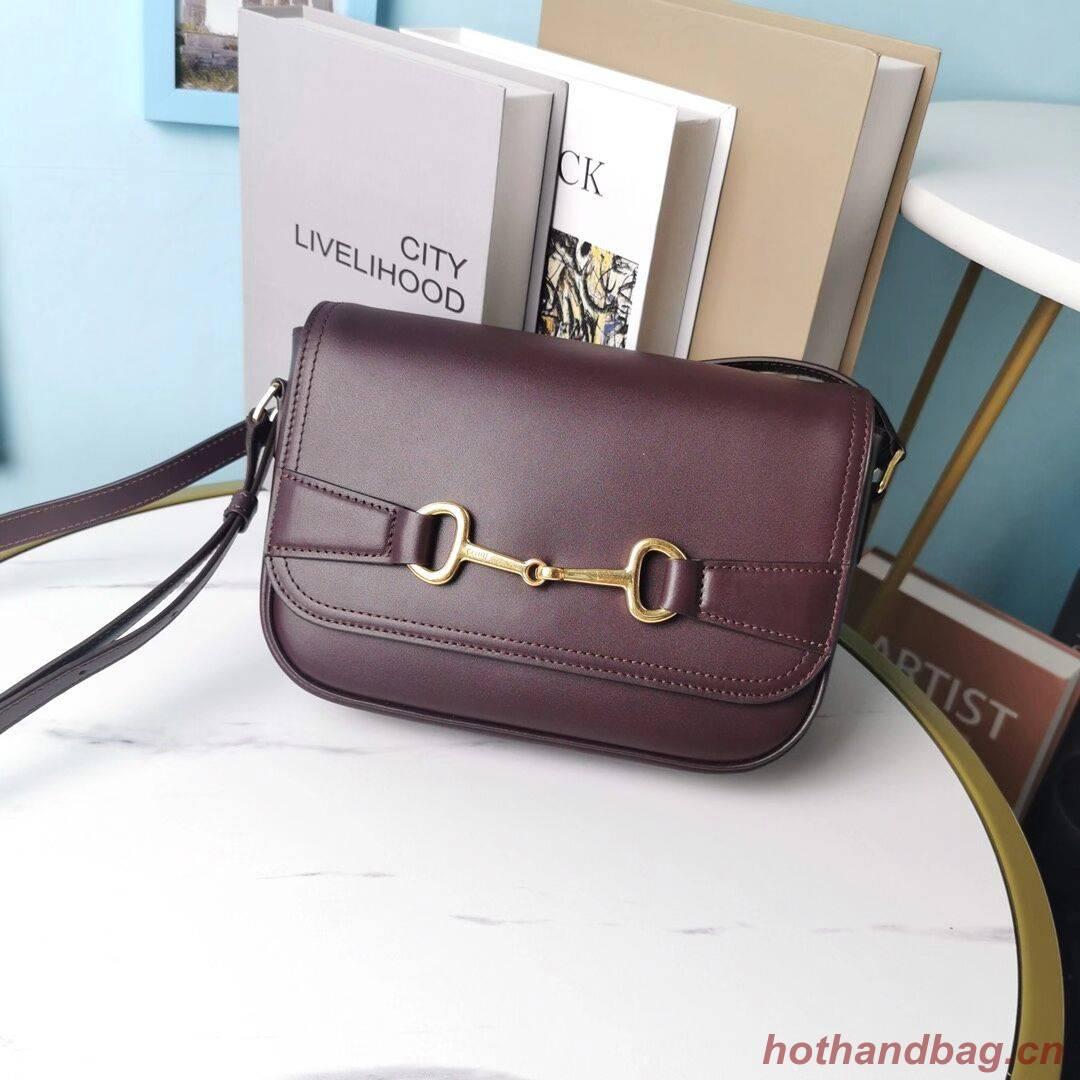 Celine SMALL CLASSIC BAG IN BOX CALFSKIN CL91373 Burgundy