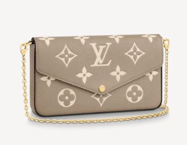 Louis Vuitton Original POCHETTE FELICIE Chain Bag M69977 grey