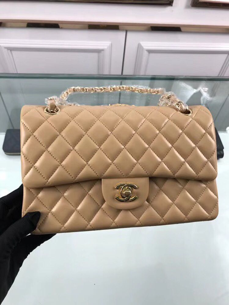 Chanel 2.55 Series Flap Bags Original  A1112 Apricot