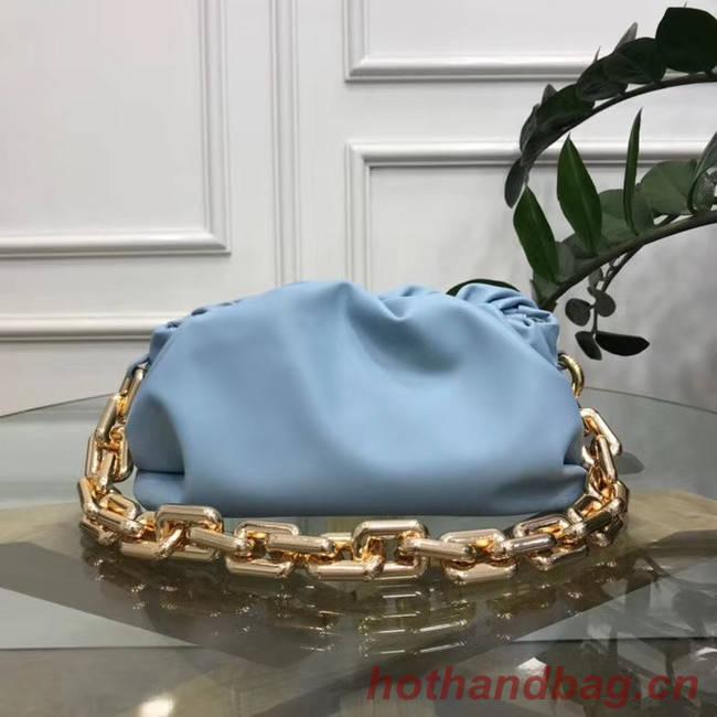 Bottega Veneta THE CHAIN POUCH 620230 LIGHT BLUE