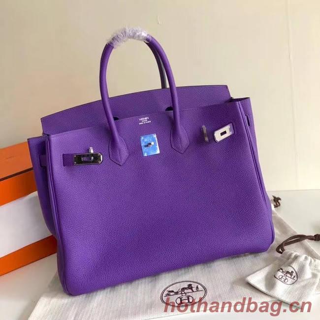 Hermes Birkin Bag Original Leather 35CM 17825 purple