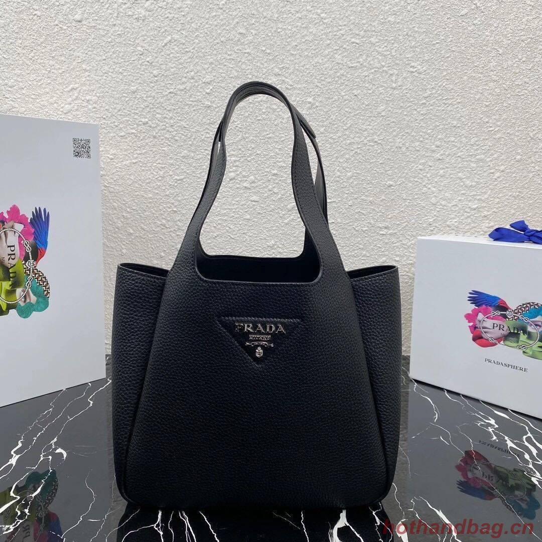 Prada Saffiano leather shoulder bag 5588 black