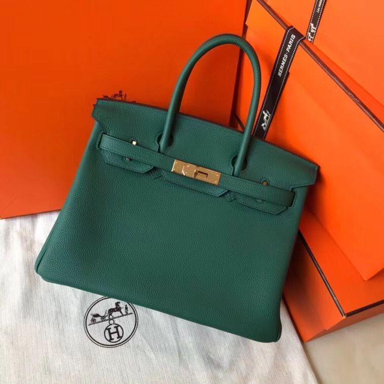 Hermes Birkin Bag Original Leather 35CM 17825 Green