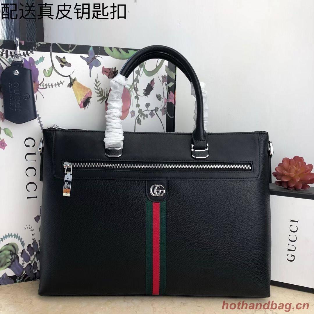 Gucci Original Leather GG Briefcase Bag G78945 Black