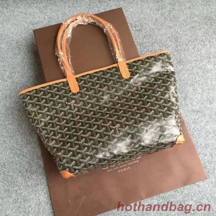Goyard Calfskin Leather Tote Bag 6788 Brown