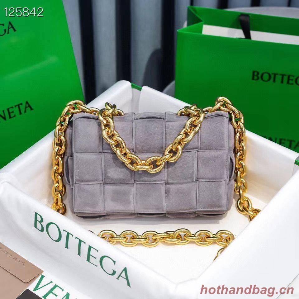 Bottega Veneta PADDED CASSETTE Velvet BAG 591971 Gray
