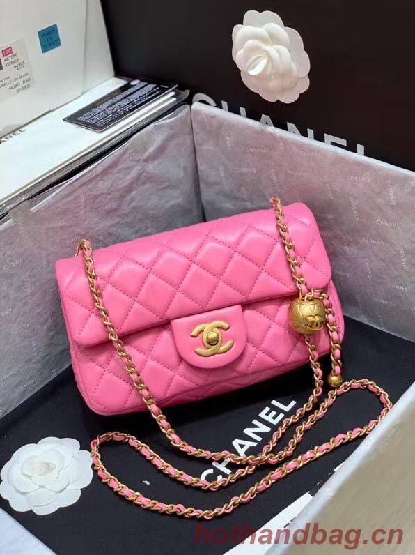 Chanel MINI Flap Bag Original Sheepskin Leather AS1787 Pink