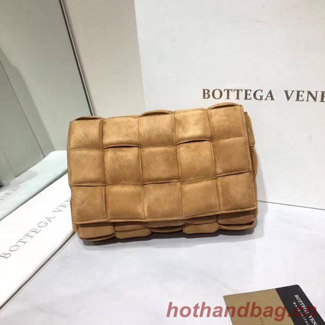 Bottega Veneta PADDED CASSETTE BAG suede 591970 brown