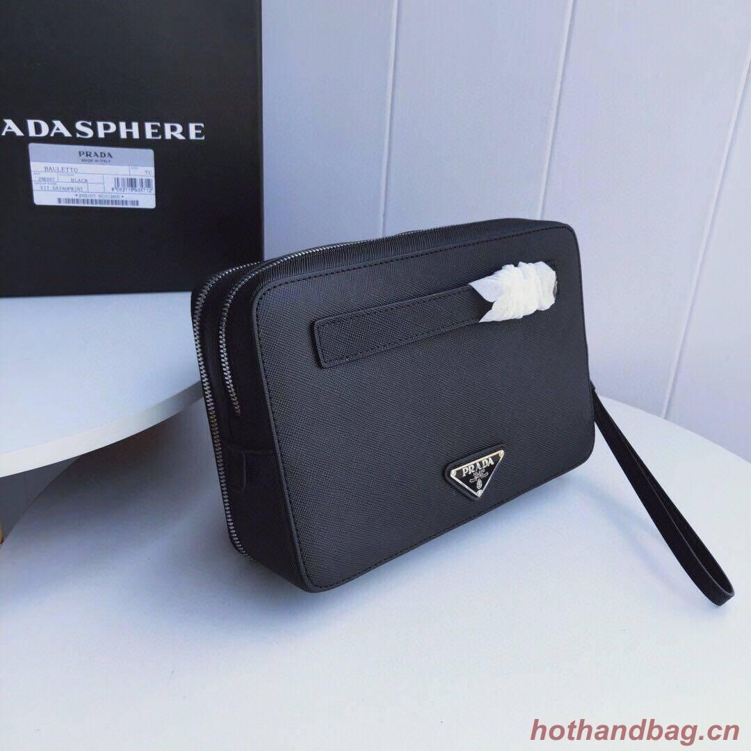Prada Saffiano Leather Bag P23698 Black