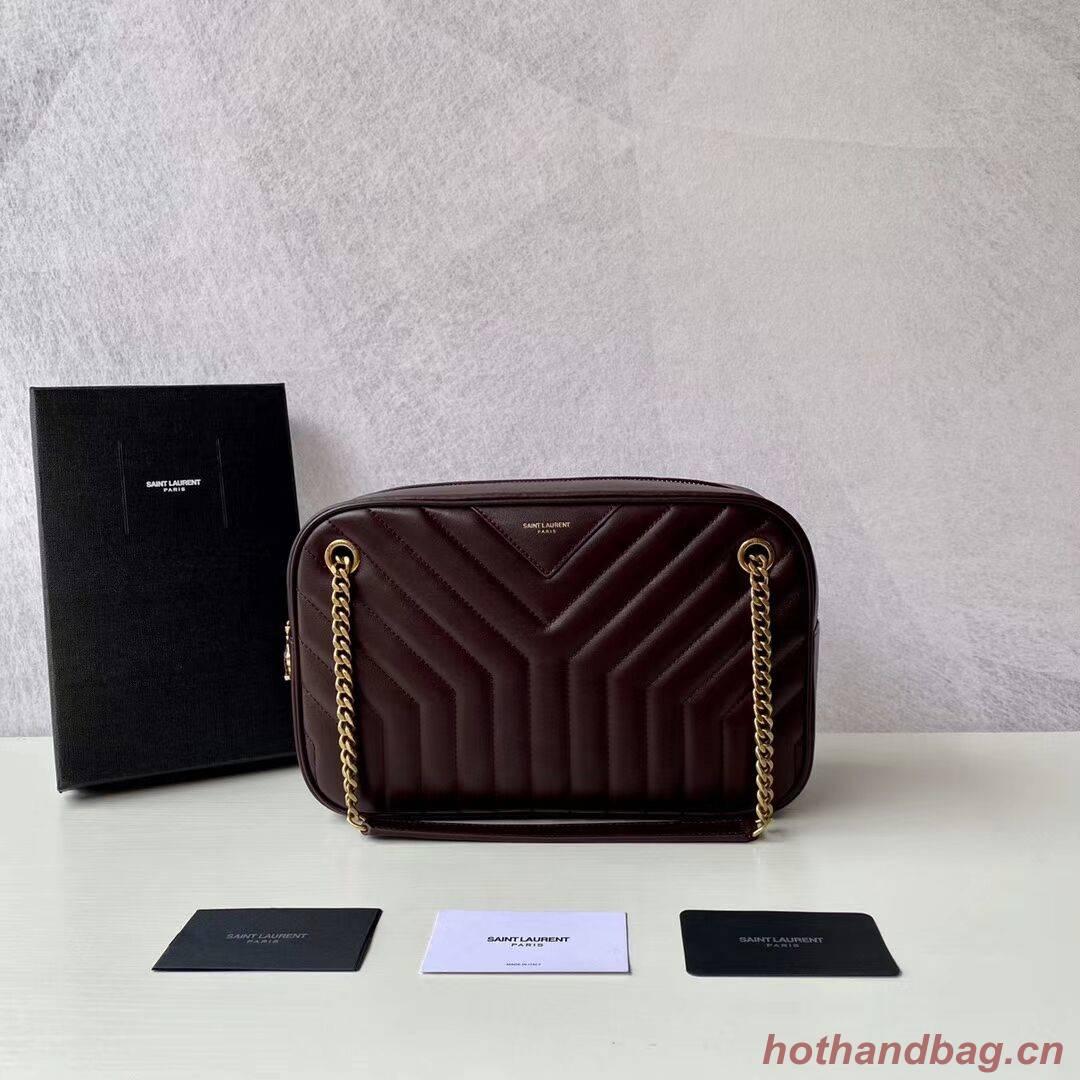 Yves Saint Laurent Calfskin Leather Shoulder Bag Y625386 Burgundy