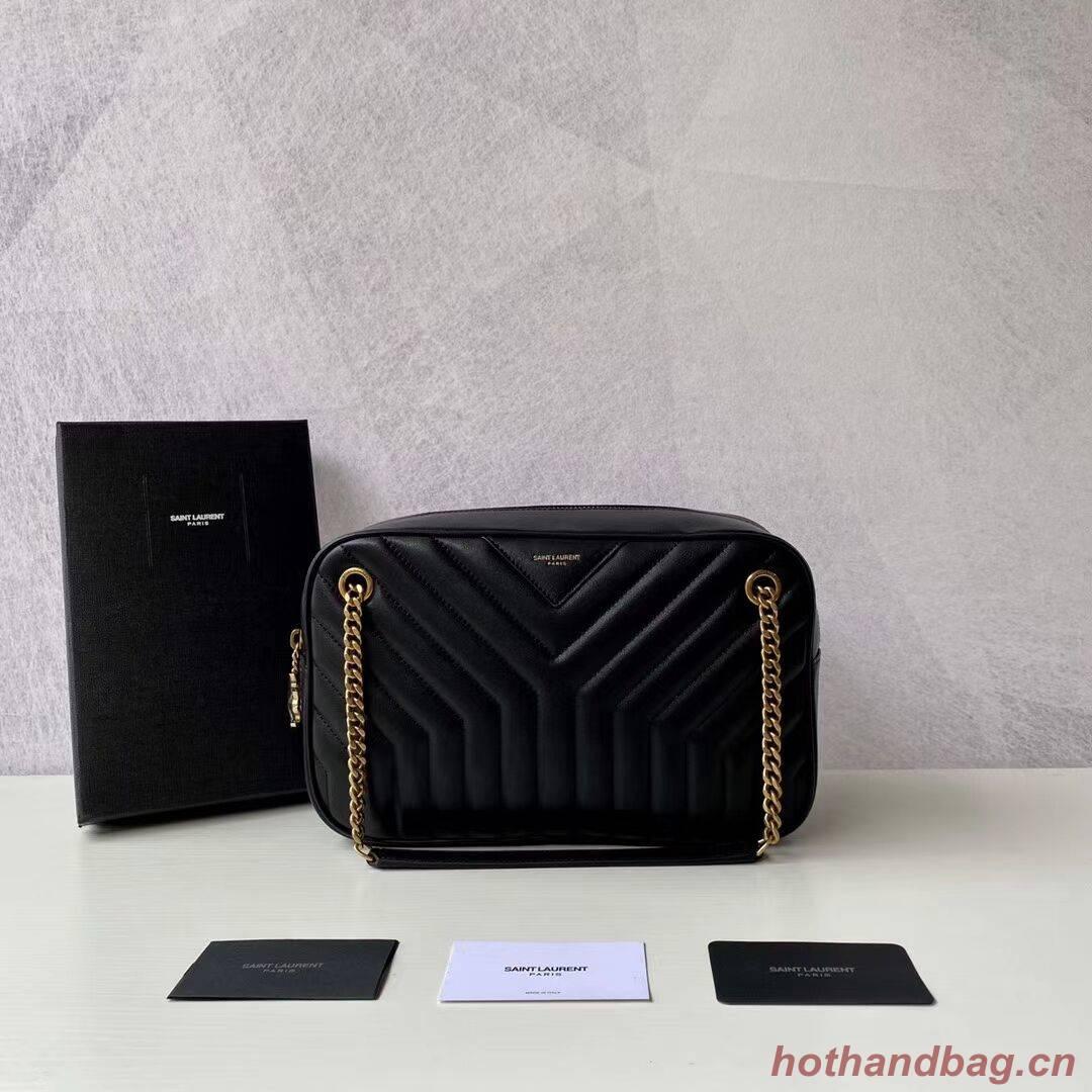 Yves Saint Laurent Calfskin Leather Shoulder Bag Y625386 black
