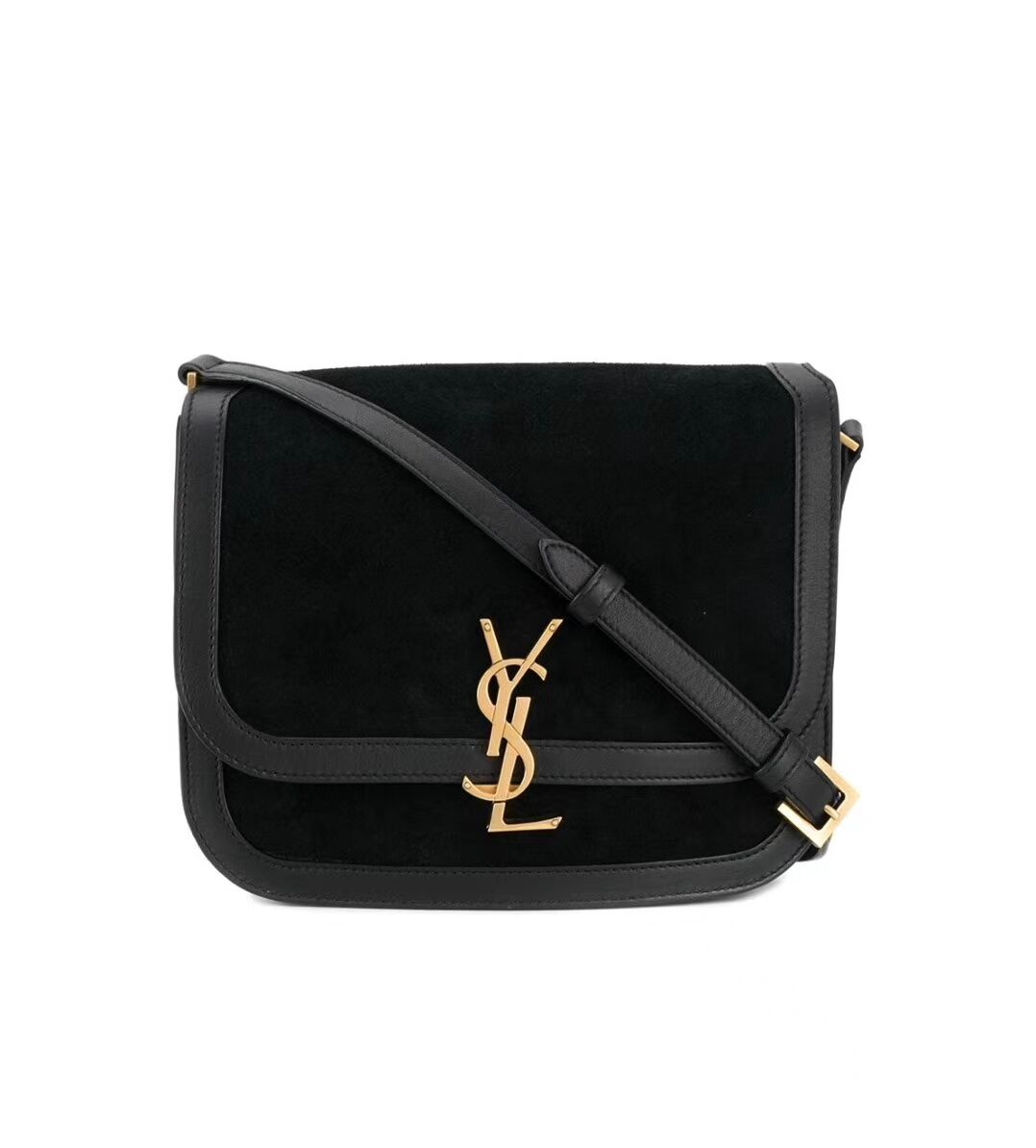 Yves Saint Laurent IN SUEDE AND SMOOTH LEATHER Y535025E Black