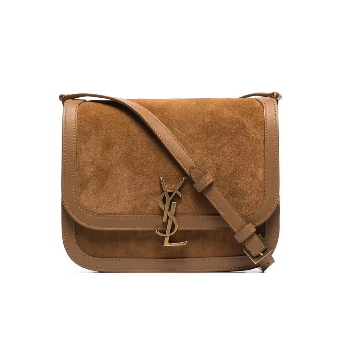 Yves Saint Laurent IN SUEDE AND SMOOTH LEATHER Y535025E brown