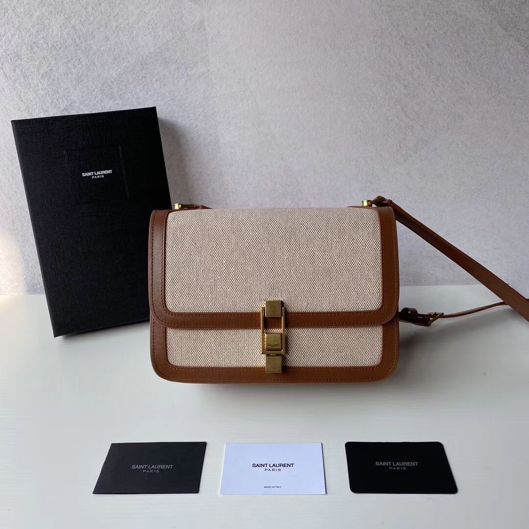 Yves Saint Laurent IN CANVAS AND LEATHER Y650108H Apricot