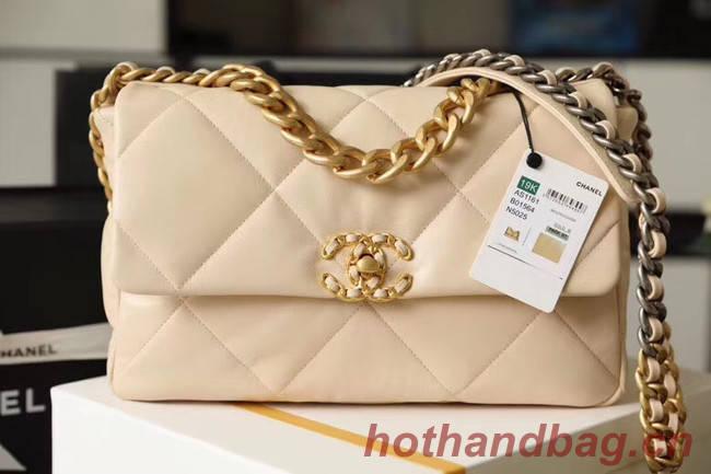 Chanel 19 flap bag AS1161 Beige