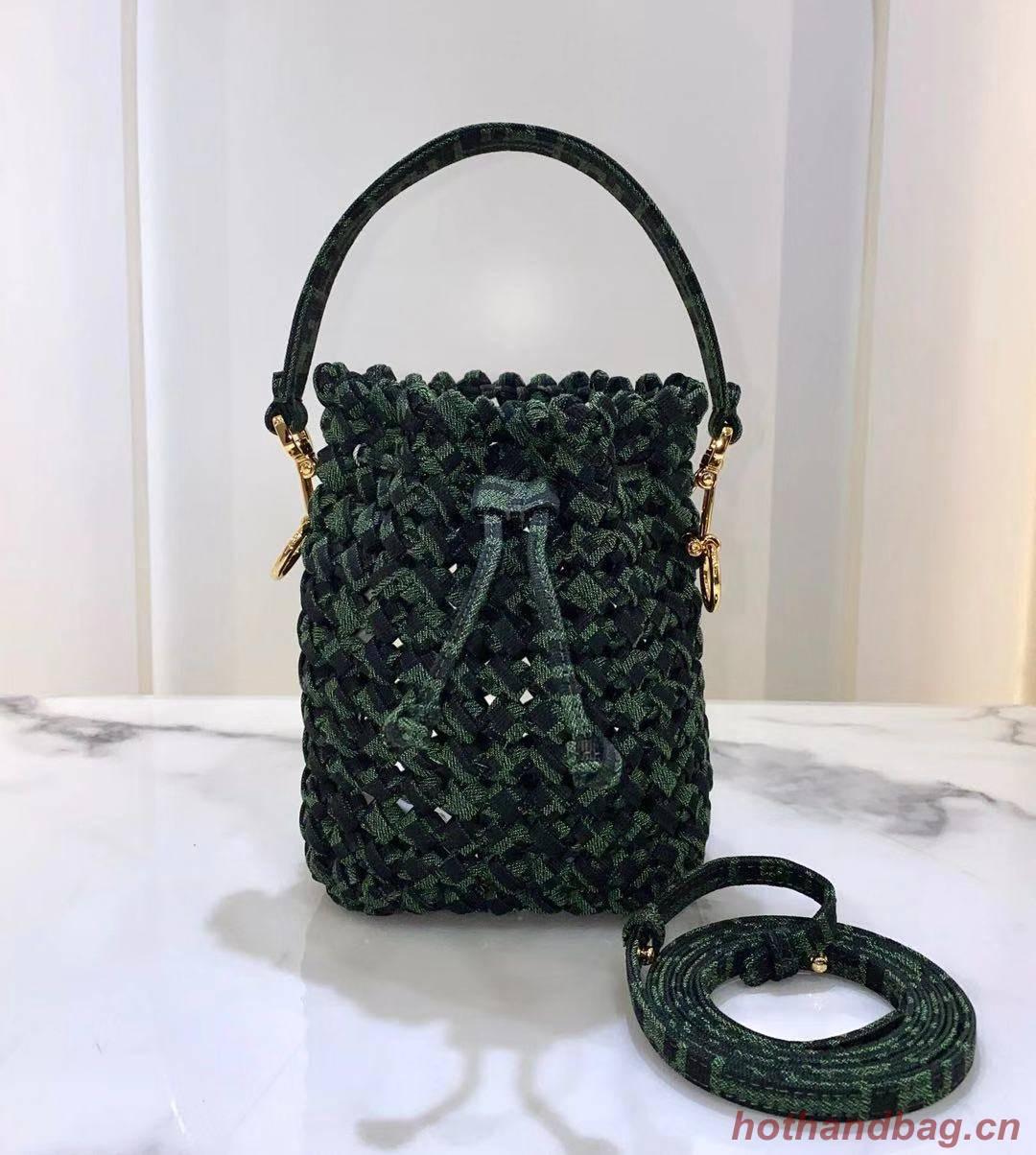 FENDI fabric bag 8BR881 green