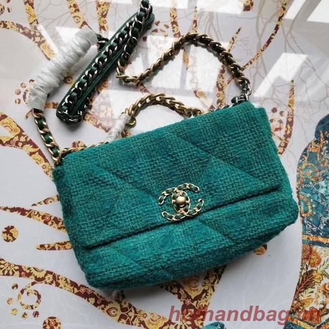 CHANEL 19 Flap Bag AS1160 green