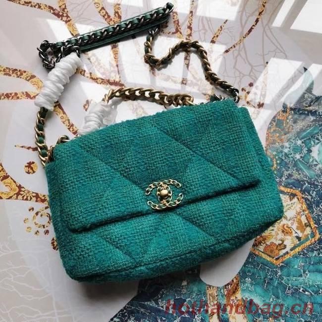 CHANEL 19 Flap Bag AS1161 green