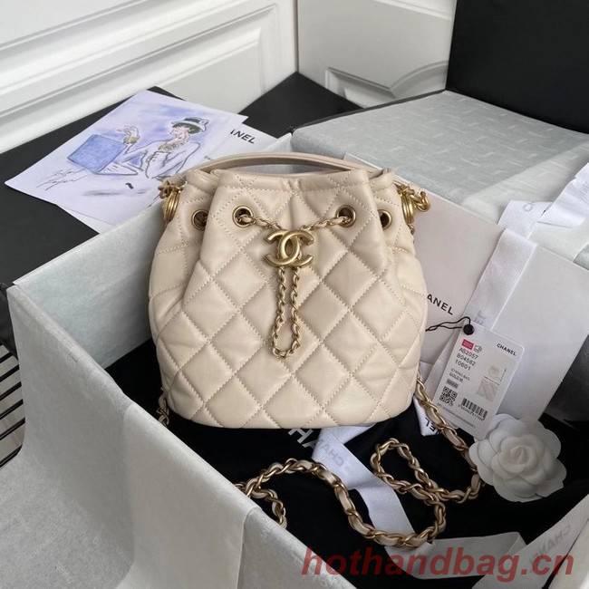 Chanel Drawstring Sheepskin bag AS2057 Beige