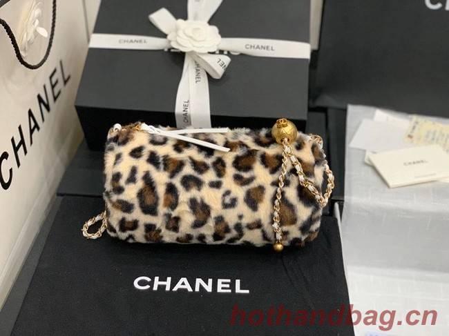 Chanel Mink hair Leopard Print AS1899 Beige