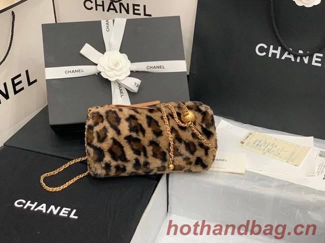 Chanel Mink hair Leopard Print AS1899 brown