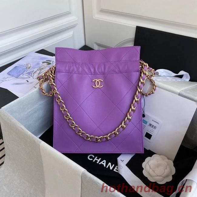 Chanel shopping bag AS2169 purple