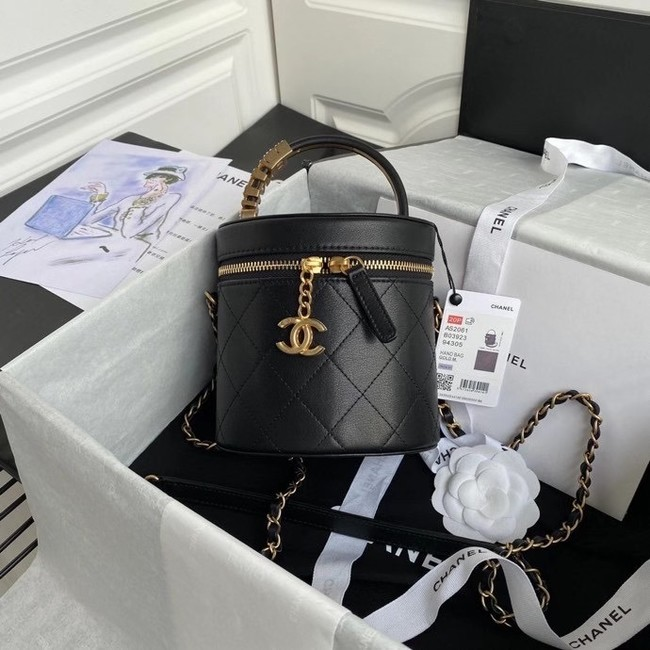 Chanel vanity case AS2061 black
