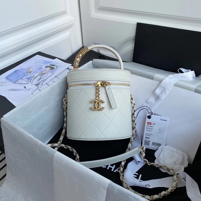 Chanel vanity case AS2061 white
