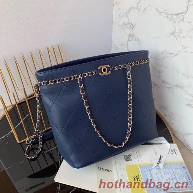 Chanel shopping bag AS2556 Navy Blue