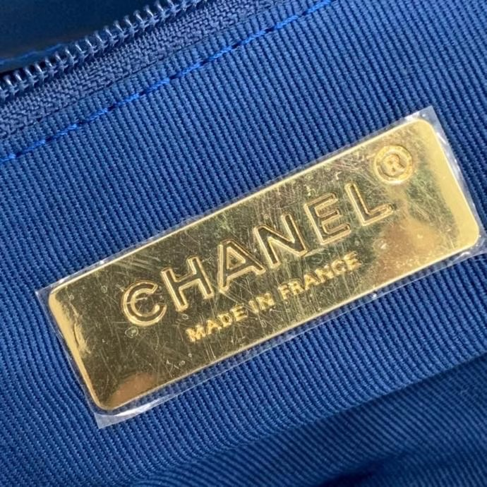 Chanel 19 flap bag AS1160 blue