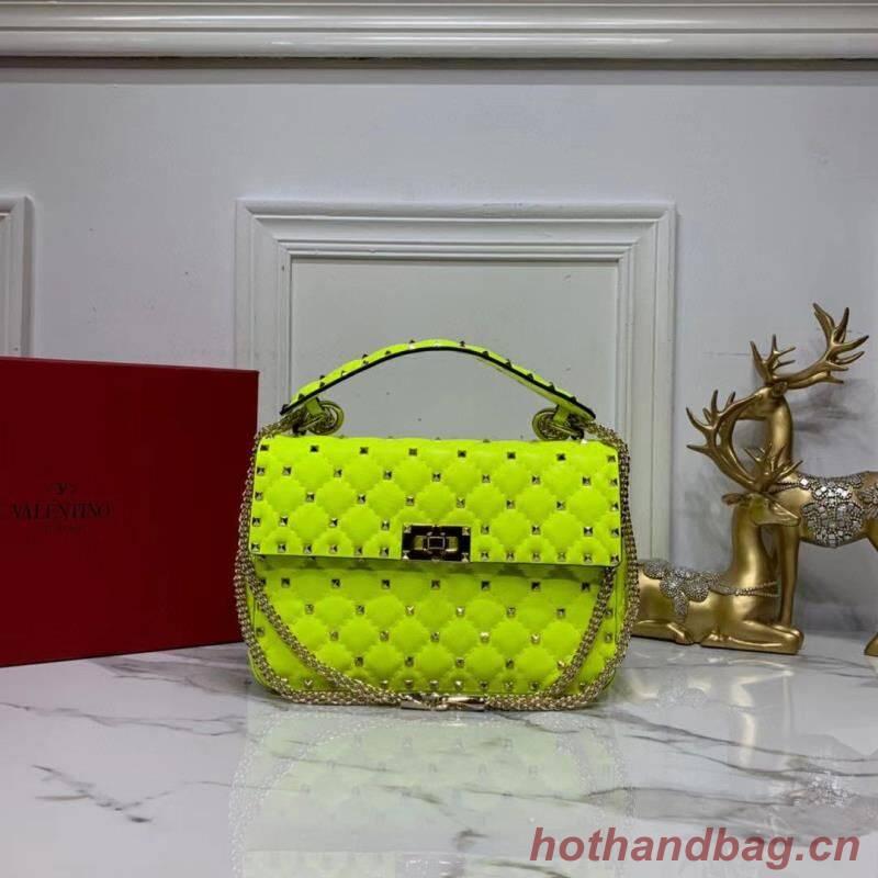 VALENTINO Origianl leather shoulder bag V0122H Pentagram Green