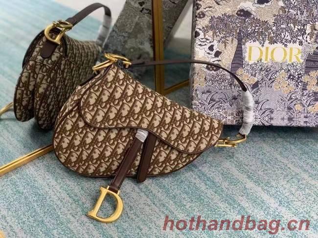 SADDLE BAG Dior Oblique Embroidered M1297ZW Brown