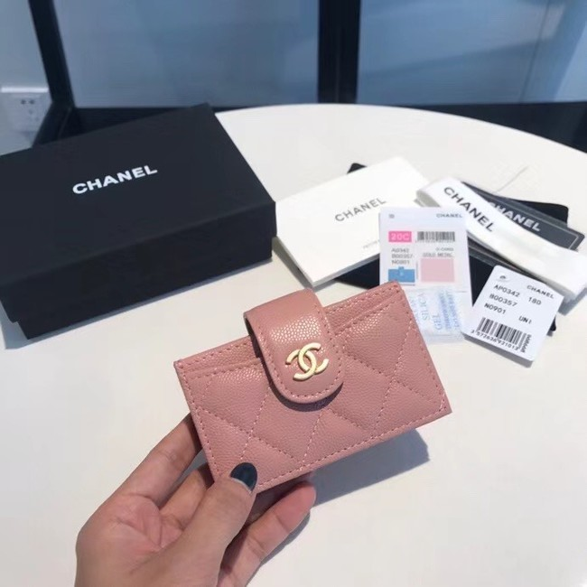 Chanel card holder AS0342 pink