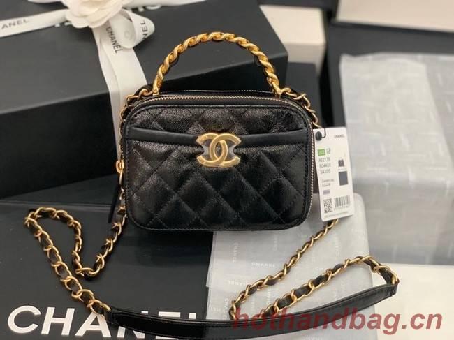 Chanel minil tote bag Sheepskin & Gold-Tone Metal AS2179 black