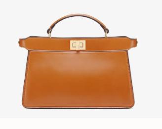 Fendi PEEKABOO ISEEU EAST-WEST leather bag 8BN323A brown