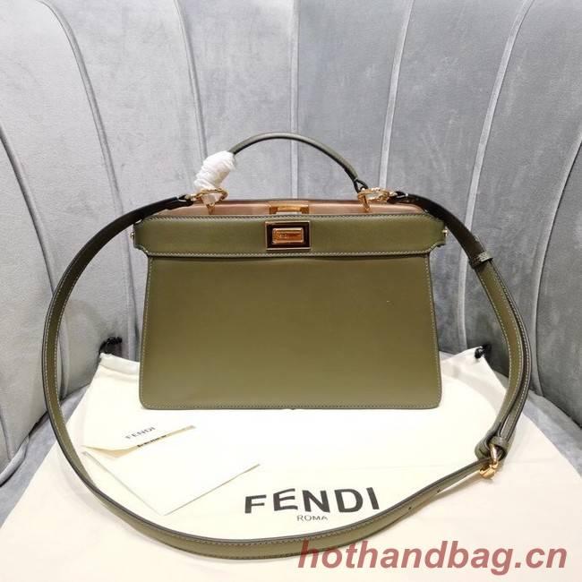 Fendi PEEKABOO ISEEU EAST-WEST leather bag 8BN323A green