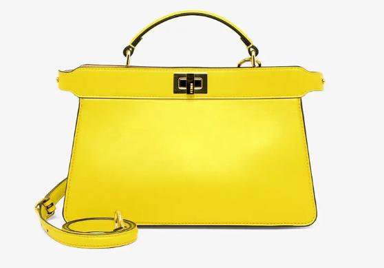 Fendi PEEKABOO ISEEU EAST-WEST leather bag 8BN323A yellow