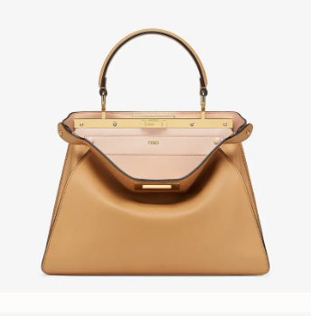 Fendi PEEKABOO ISEEU MEDIUM leather bag 70193 apricot