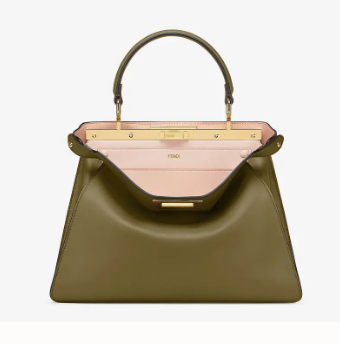 Fendi PEEKABOO ISEEU MEDIUM leather bag 70193 green