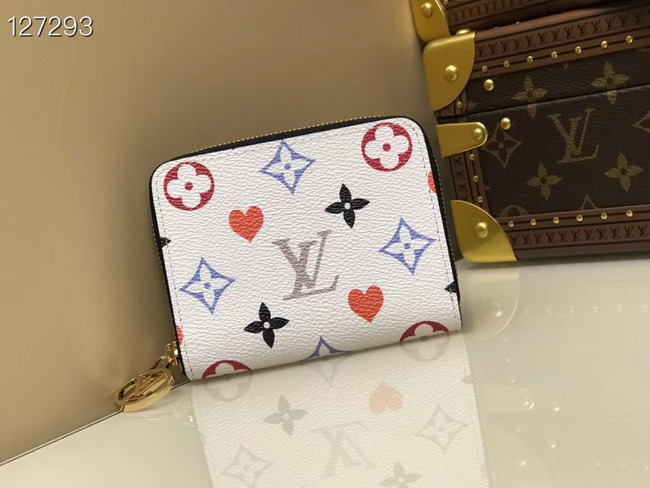 Louis Vuitton GAME ON ZIPPY COIN PURSE M80305 white