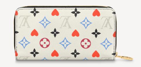 Louis Vuitton GAME ON ZIPPY WALLET M57491 white