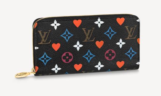 Louis Vuitton GAME ON ZIPPY WALLET M80323 black