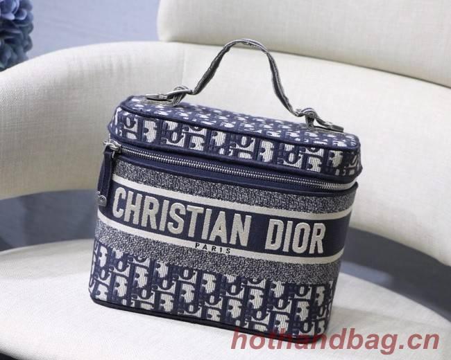 Dior Oblique Embroidered DIORTRAVEL VANITY CASE S5480  Blue