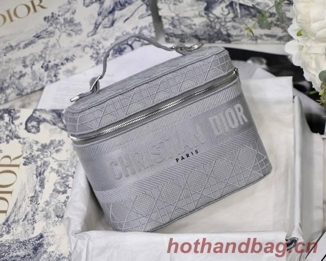 Dior Oblique Embroidered DIORTRAVEL VANITY CASE S5480  grey