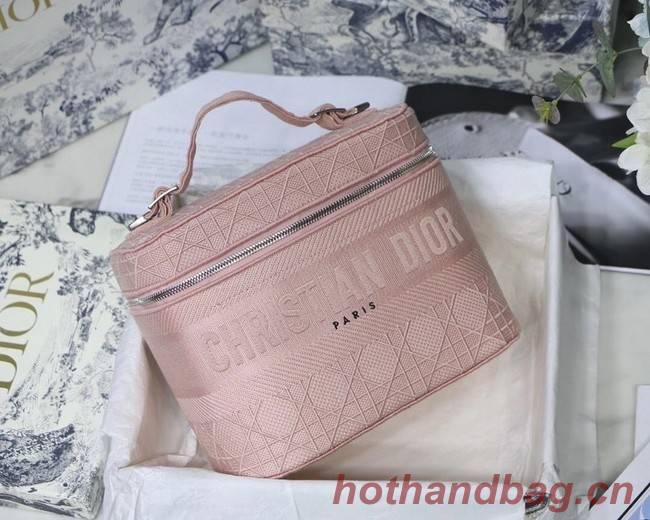 Dior Oblique Embroidered DIORTRAVEL VANITY CASE S5480  pink