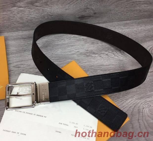 Louis Vuitton Original Calf Leather Belt 2569 black