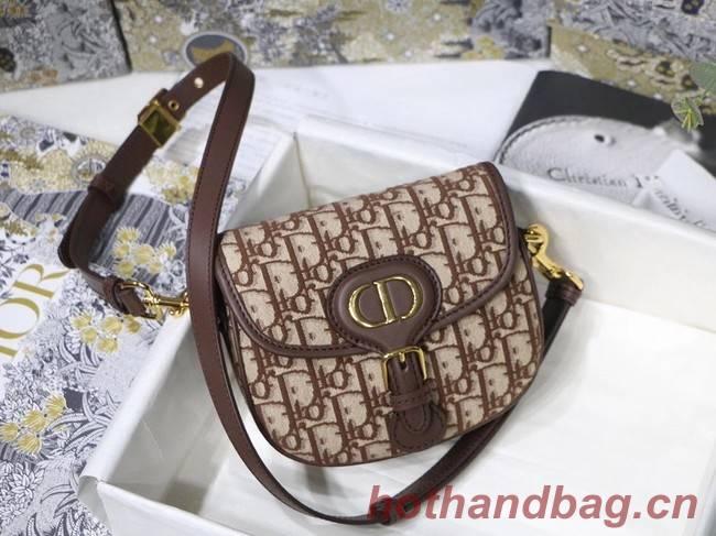 SMALL DIOR BOBBY BAG Brown Dior Oblique Jacquard M9317U