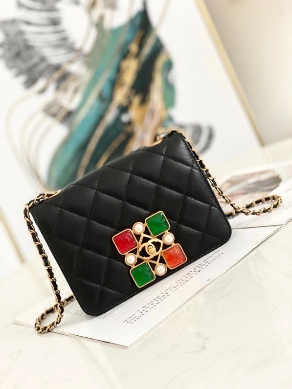 Chanel flap bag AS2259 Black & red